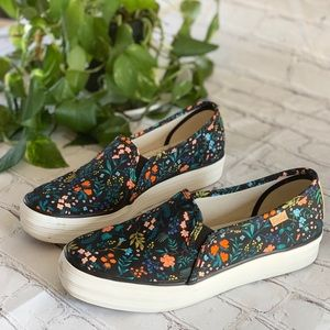 Rifle paper co x Keds triple decker floral shoes